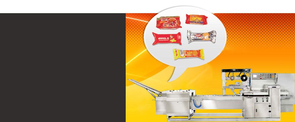 Biscuit Packaging Machine, Food Packaging Machine, Food Wrapping Machine